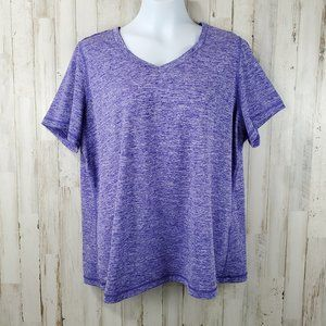 Ideology Womens Athletic Top 2X Purple Gym